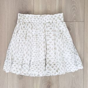 Club Monaco skater skirt white tan small cotton